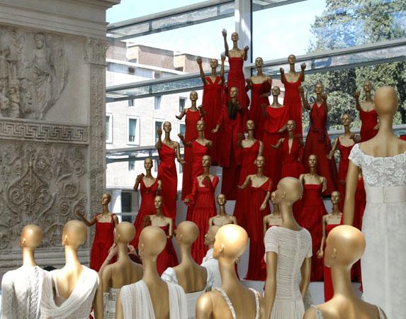 Valentino Exhibit at Rome's Ara Pacis von Susan Sanders