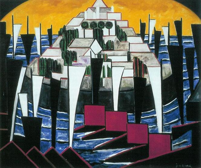 """""""Bild no. 15 (Segelboote)"""" von Jacoba van Heemskerck"""